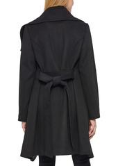 Karl Lagerfeld Paris Belted Wool Blend Coat