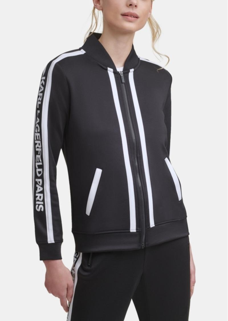 Karl Lagerfeld Paris Block Letter Athleisure Jacket