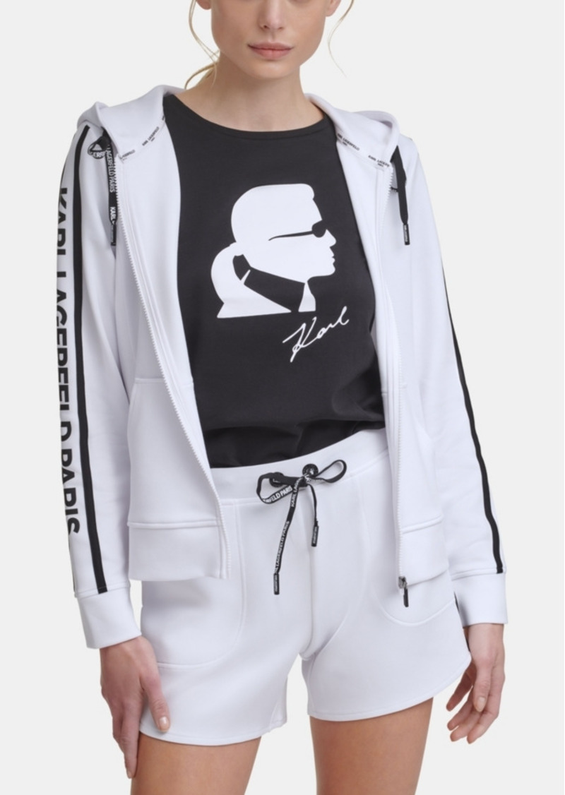 Karl Lagerfeld Paris Block Letter Logo Taping Jacket