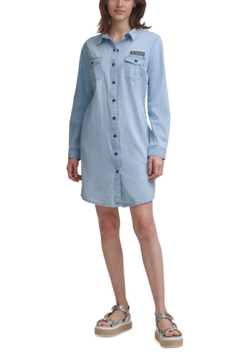 Karl Lagerfeld Paris Button-Down Denim Shirtdress