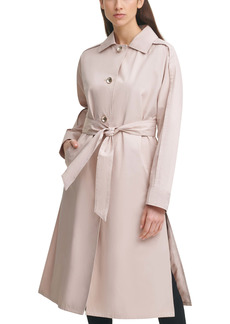 Karl Lagerfeld Paris Dolman Sleeve Trench Cotton Blend Coat