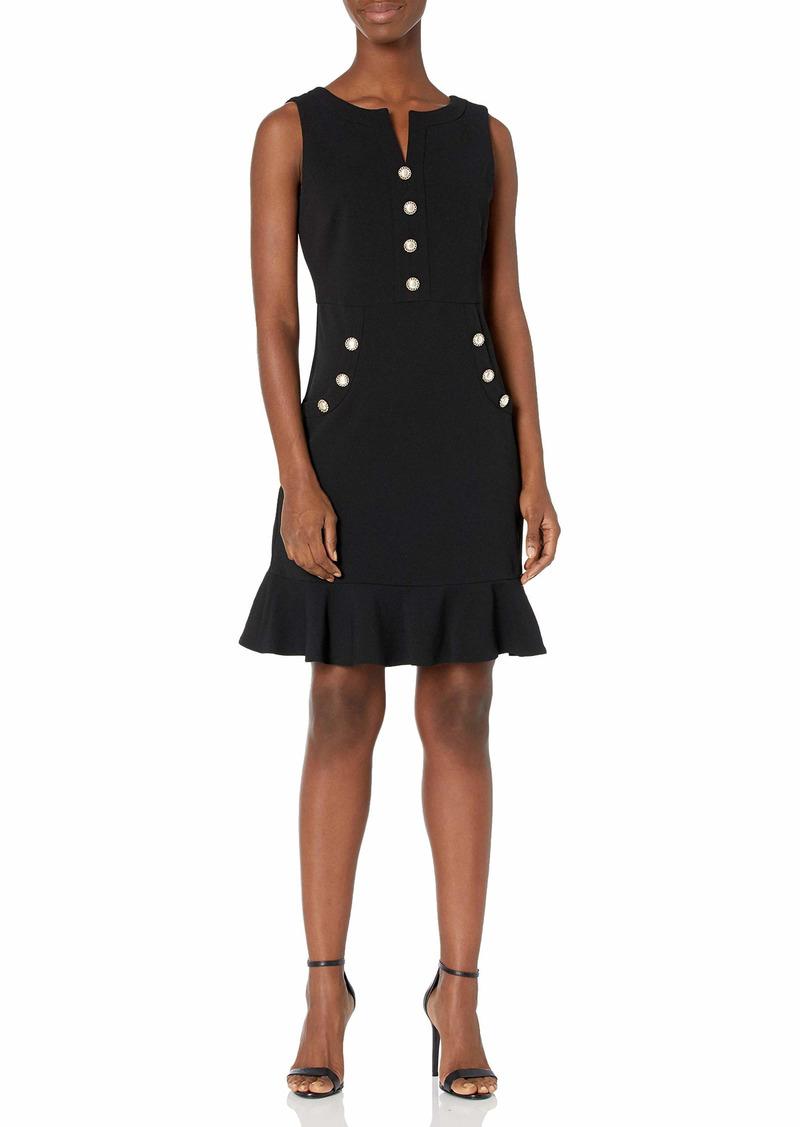 KARL LAGERFELD PARIS DRESSES Karl Lagerfeld Paris Women's Crepe Flounce Dres