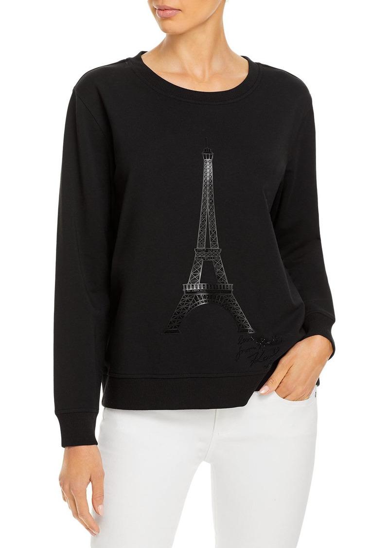 KARL LAGERFELD PARIS Eiffel Tower Sweatshirt