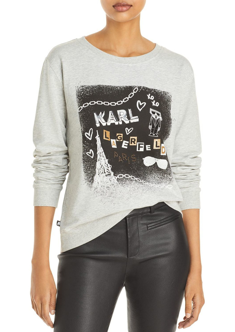 KARL LAGERFELD PARIS Embellished Sweatshirt