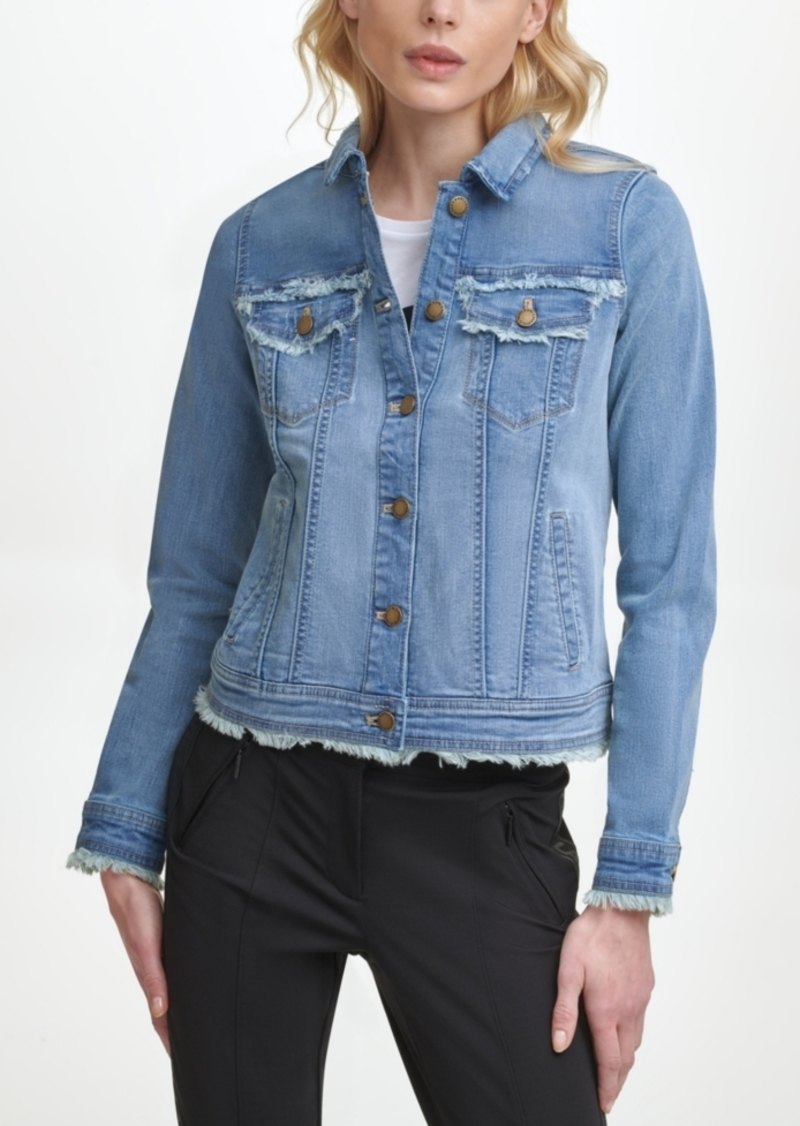 Karl Lagerfeld Paris Fringe Denim Jacket