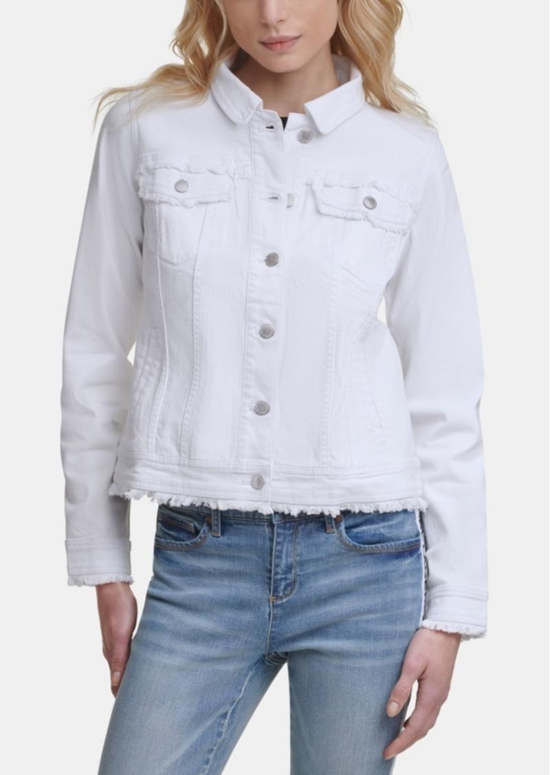 Karl Lagerfeld Paris Fringe Denim Jacket