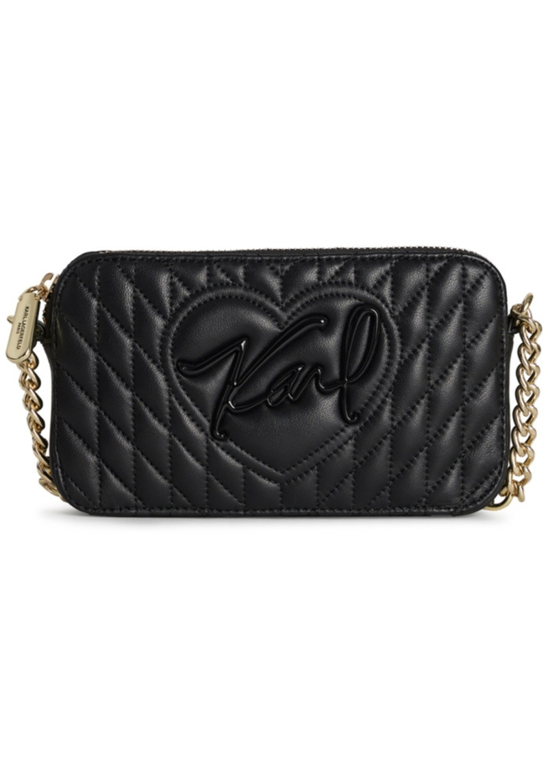 Karl Lagerfeld Paris Karolina Leather Crossbody