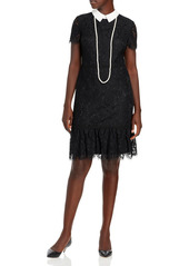 KARL LAGERFELD PARIS Lace Sheath Dress & Necklace