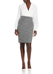 KARL LAGERFELD PARIS Layered Look Tweed Dress