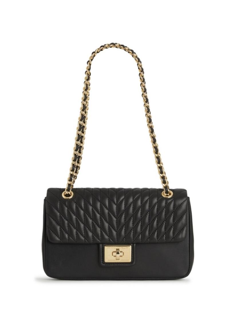 Karl Lagerfeld Paris Leather Shoulder Bag