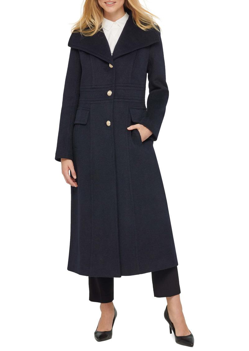 Karl Lagerfeld Paris Long Wool Blend Coat