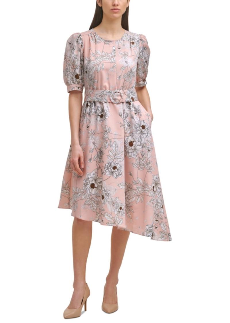 Karl Lagerfeld Paris Printed Asymmetrical Dress