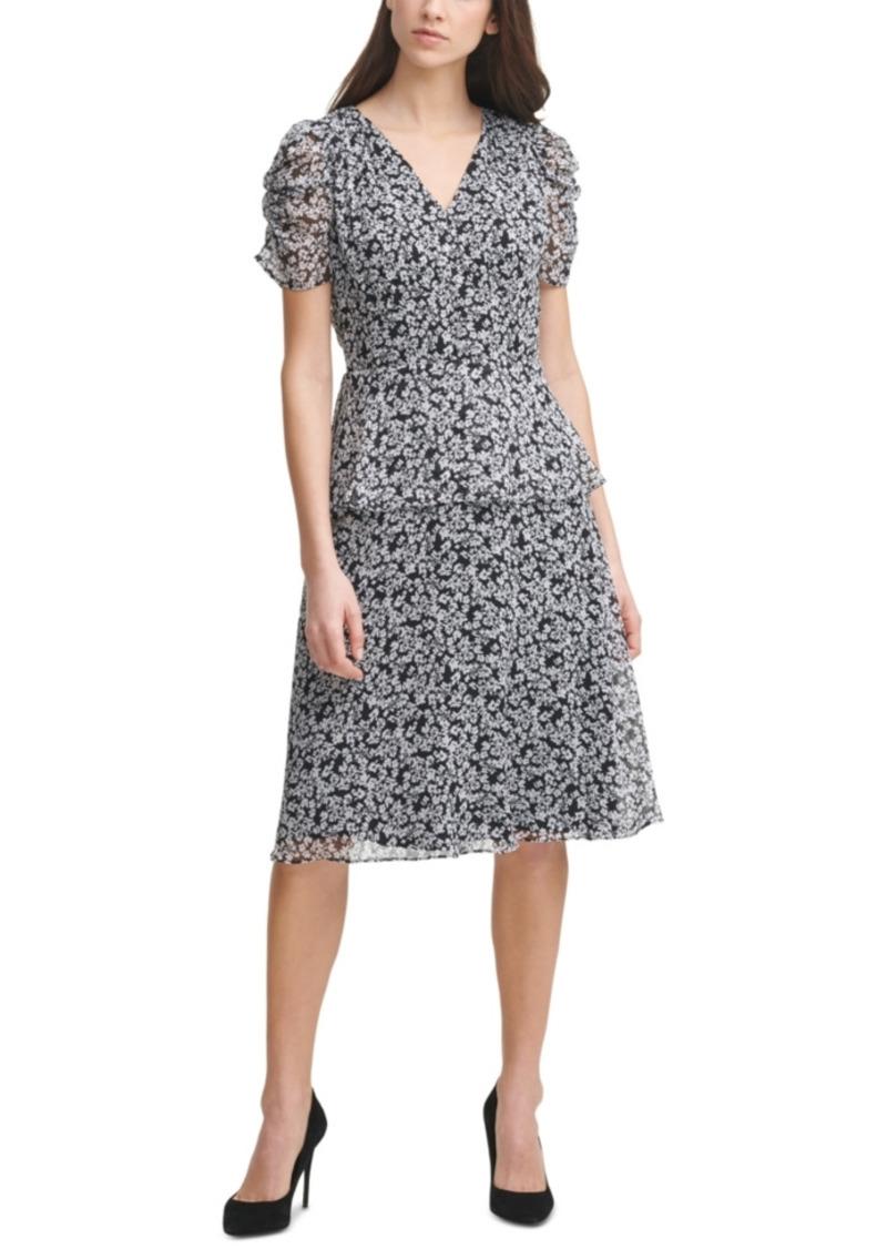 Karl Lagerfeld Paris Printed Chiffon Dress