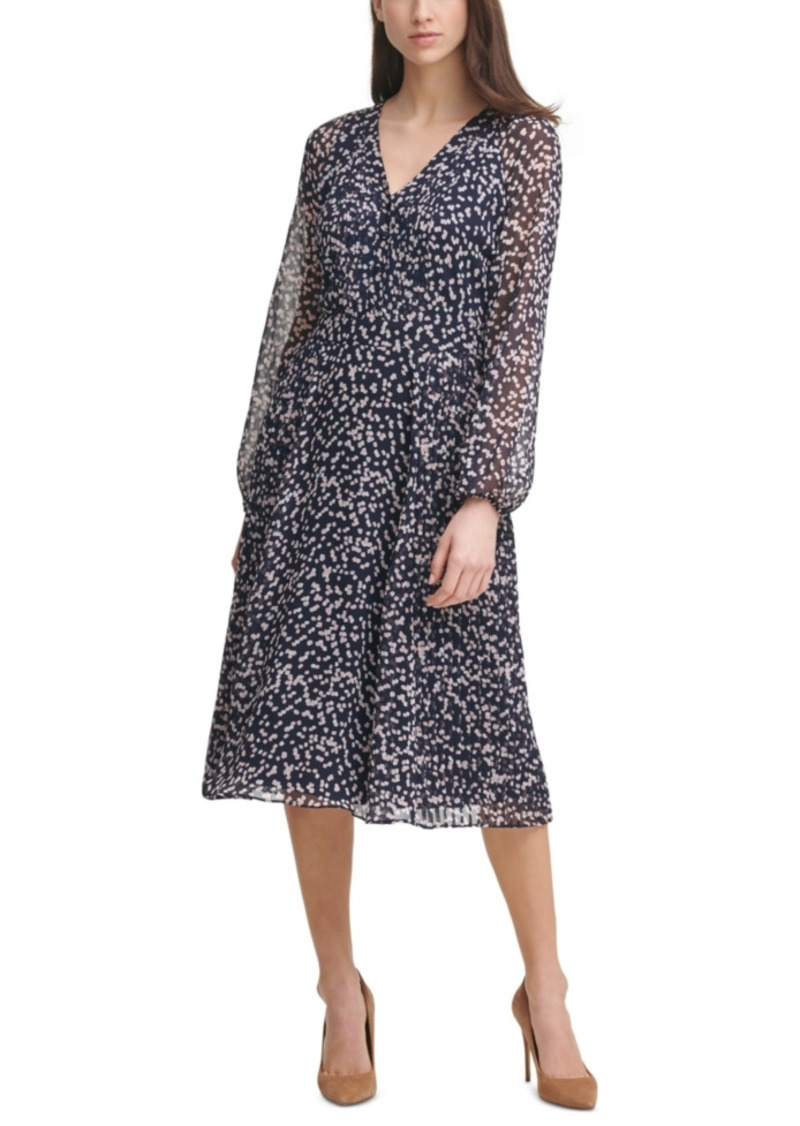 Karl Lagerfeld Paris Printed Chiffon Midi Dress