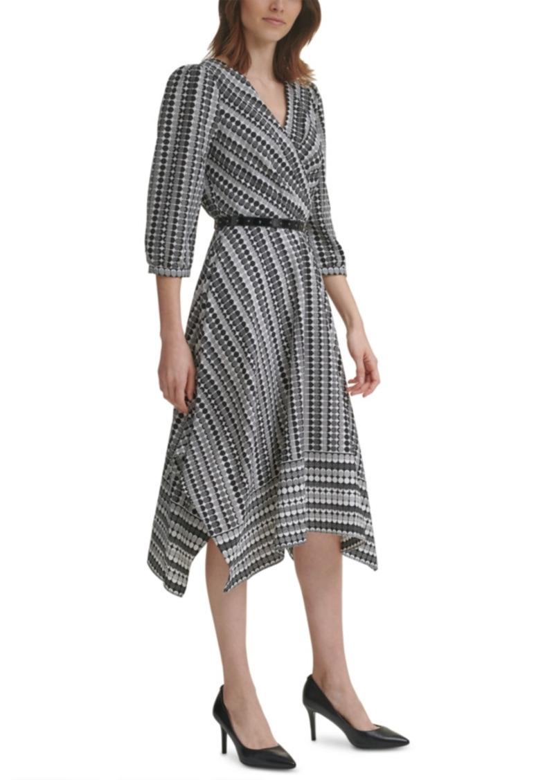 Karl Lagerfeld Paris Printed Chiffon Midi Dress