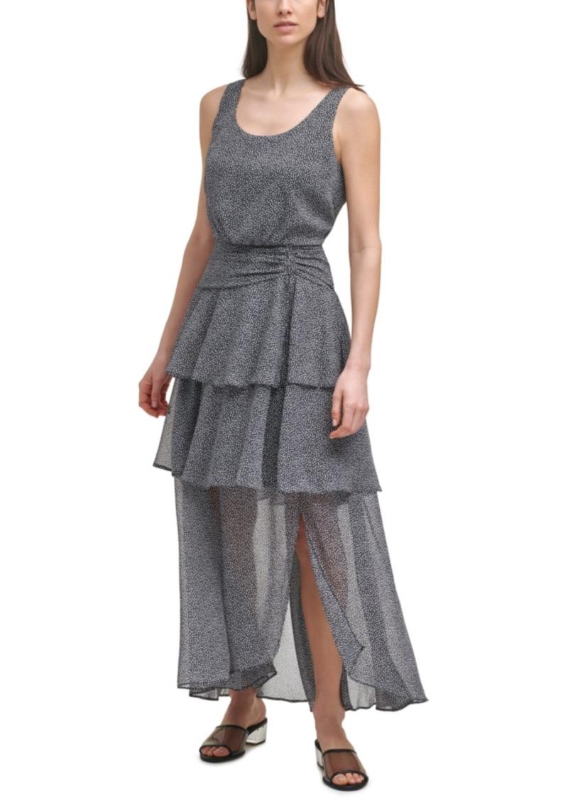 Karl Lagerfeld Paris Printed Tiered Dress