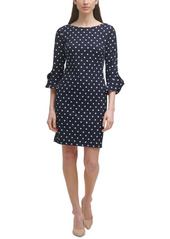 Karl Lagerfeld Paris Printed Tulip-Cuff Dress