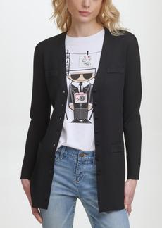 Karl Lagerfeld Paris Ribbed Sweater Cardigan