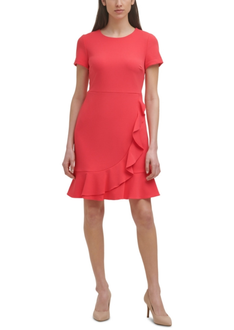 Karl Lagerfeld Paris Ruffled Sheath Dress
