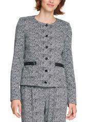 Karl Lagerfeld Paris Tweed Button Jacket