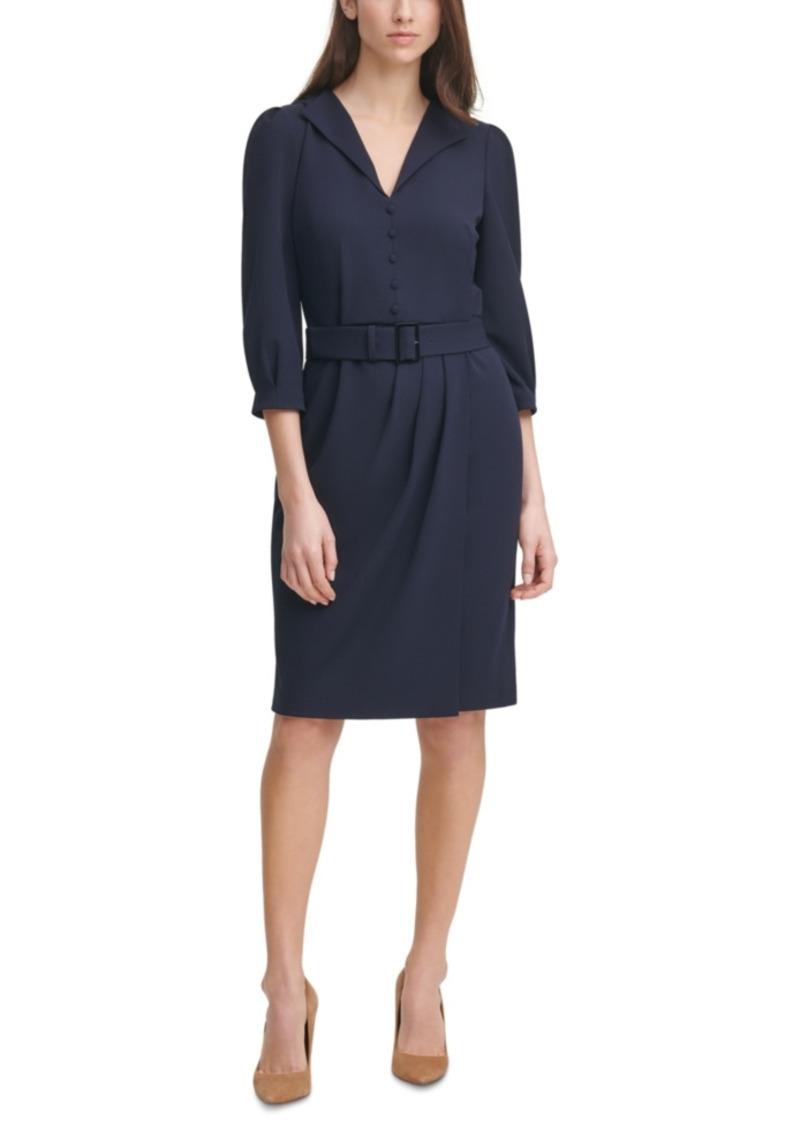 Karl Lagerfeld Paris V-Neck Sheath Dress