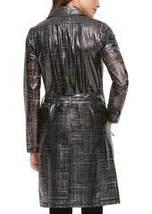 Karl Lagerfeld Paris Water Resistant Transparent Trench Raincoat