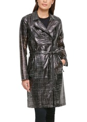 Karl Lagerfeld Paris Water Resistant Transparent Trench Raincoat