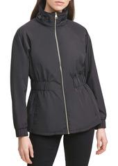 Karl Lagerfeld Paris Water Resistant Windbreaker Jacket
