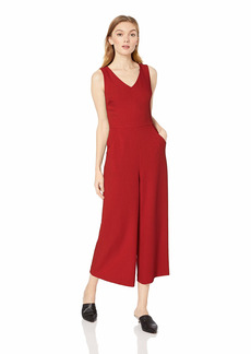 Karl Lagerfeld Paris Women's Cropped Jumpsuit with Pockets