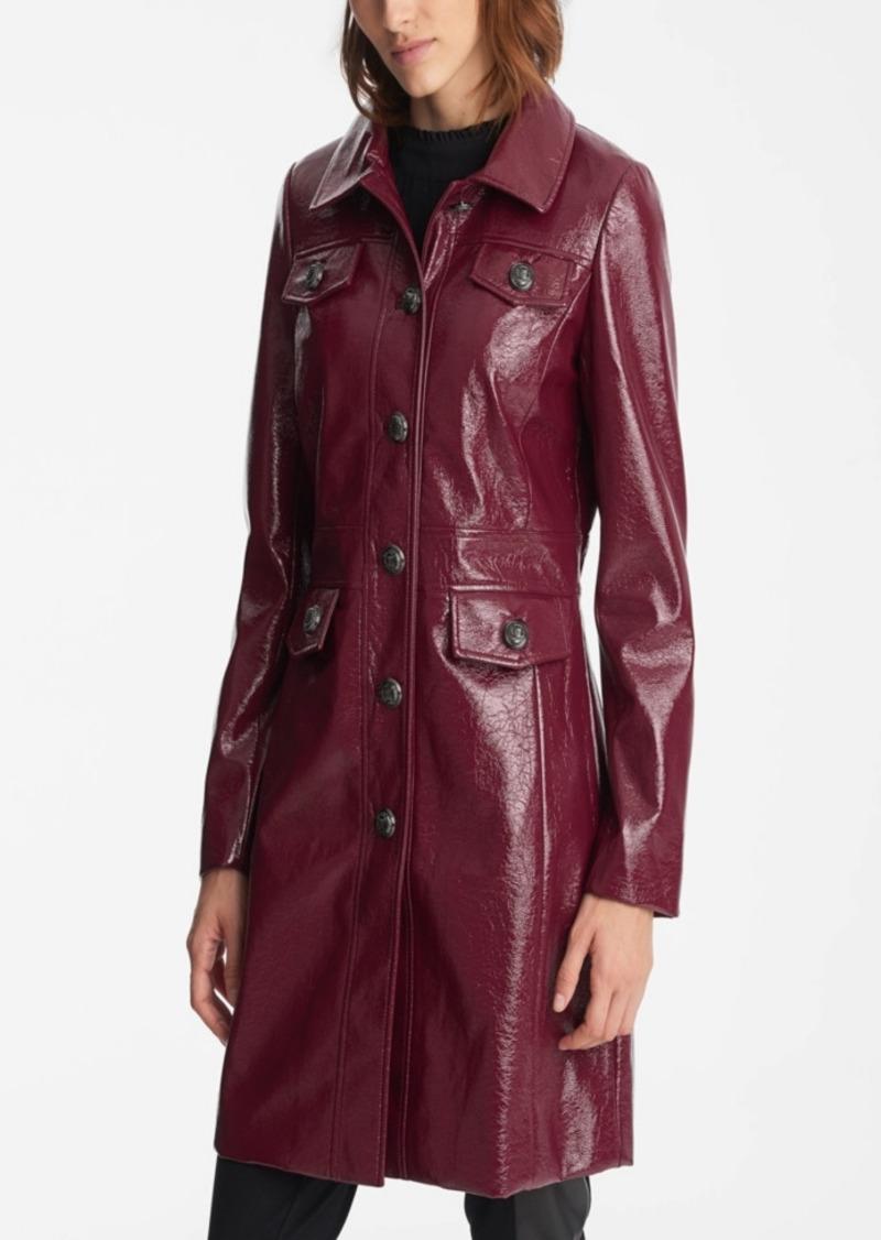 Karl Lagerfeld Paris Women's Faux Crinkle Leather Jacket