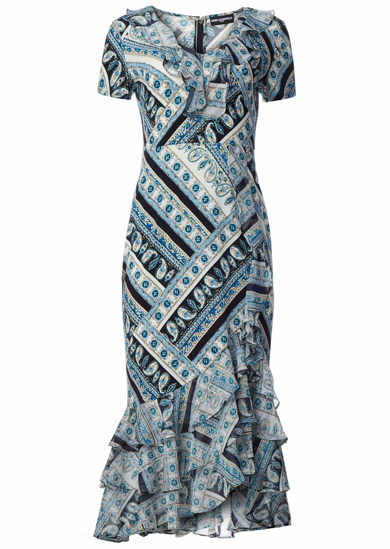Karl Lagerfeld Paris Women's Ruffle Maxi Dress
