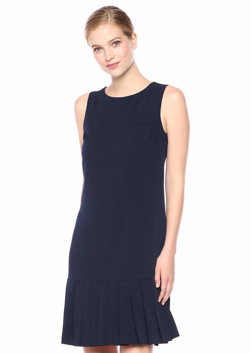 Karl Lagerfeld Paris Women's Shift Dress with Pleated Hem