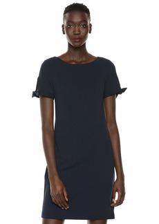 Karl Lagerfeld Paris Women's Shift Dress with tie Sleeve