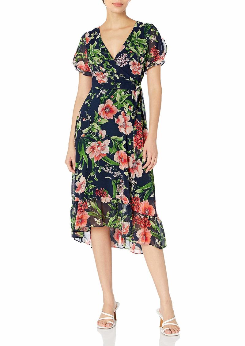 Karl Lagerfeld Paris Women's Short Sleeve Midi Dress