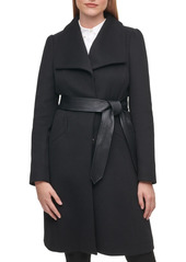 Karl Lagerfeld Paris Women's Single-Breasted Belted Coat