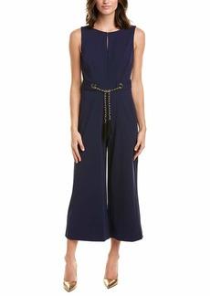 Karl Lagerfeld Paris Women's Sleeveless Jumpsuit with Chain Belt