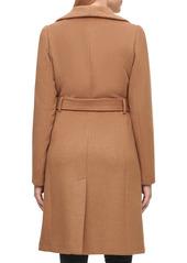 Karl Lagerfeld Paris Wool Belted Wrap Coat
