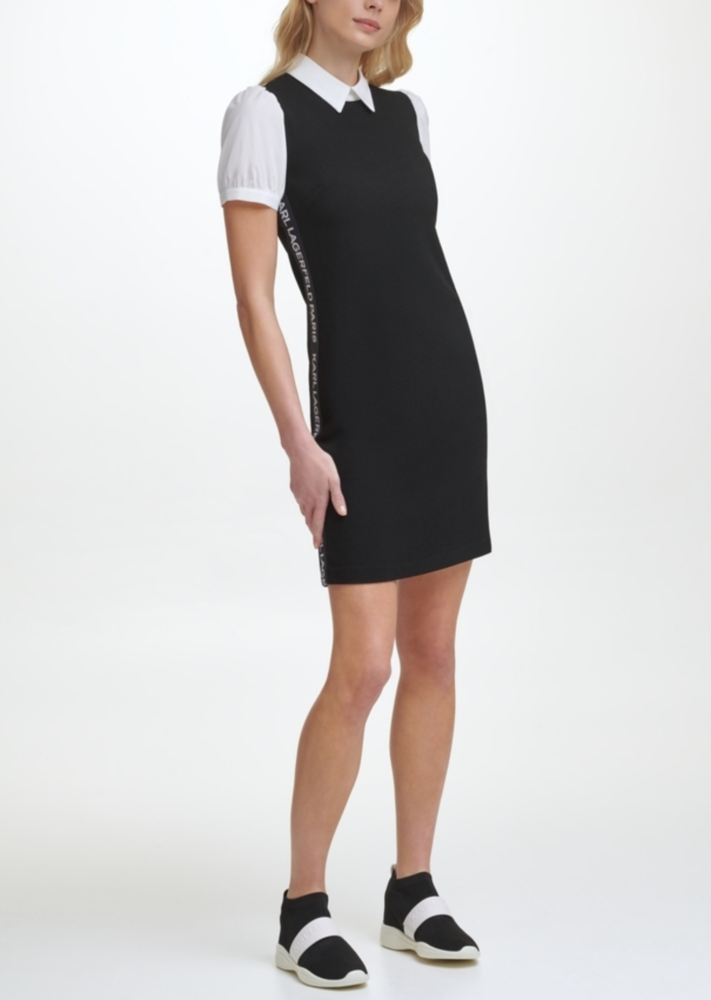 Karl Lagerfeld Twofer Dress with Logo Taping
