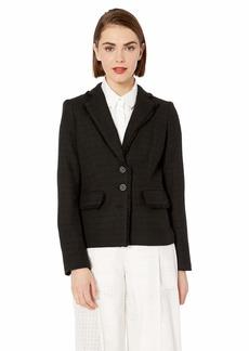 Karl Lagerfeld Women's Tweed 2 Button Blazer