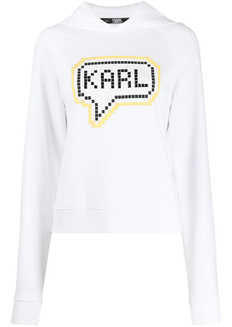 Karl Lagerfeld Karl pixel logo hoodie