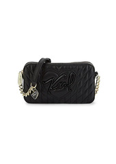 Karl Lagerfeld Karolina Leather Crossbody Bag