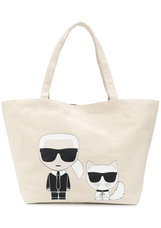 Karl Lagerfeld K/Ikonik Karl & Choupette tote bag