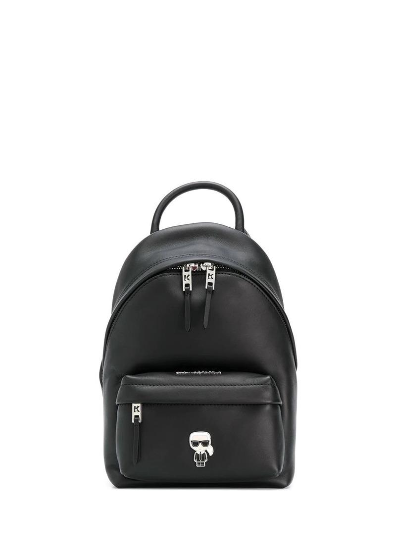Karl Lagerfeld K/Ikonik metal logo backpack