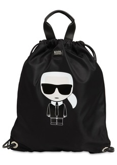 Karl Lagerfeld K/ikonik Nylon Flat Backpack