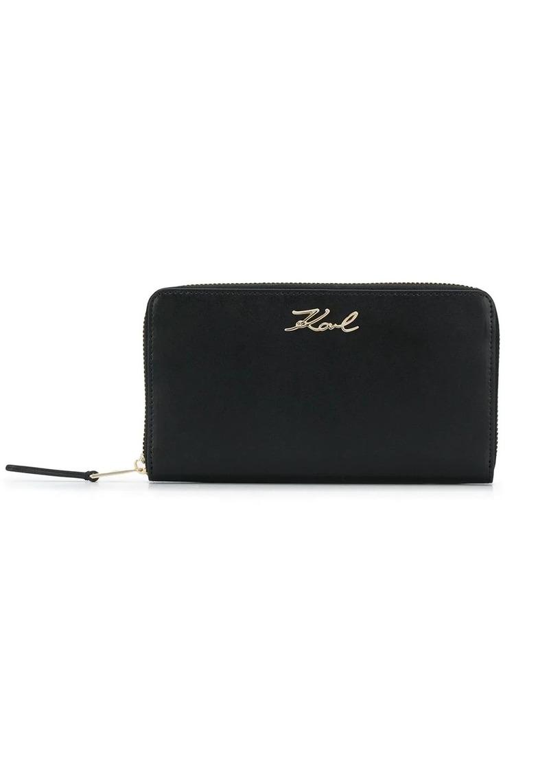 Karl Lagerfeld K/Signature zip wallet
