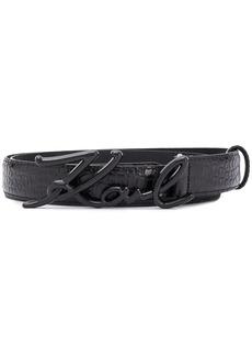 Karl Lagerfeld K/Signature croco belt