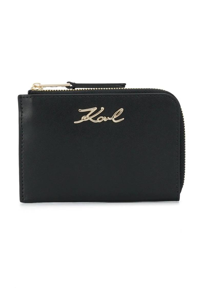 Karl Lagerfeld K/Signature zip key holder