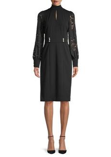 Karl Lagerfeld Lace Crepe Dress
