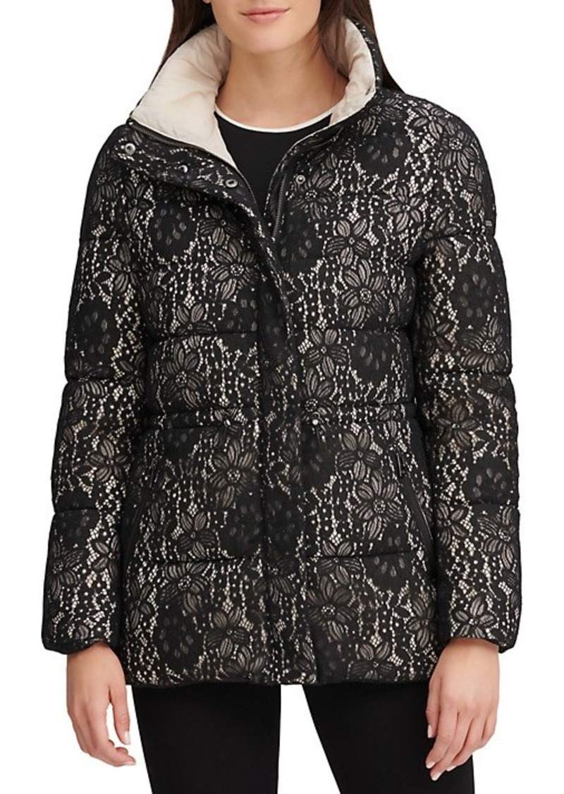 Karl Lagerfeld Lace Puffer Jacket