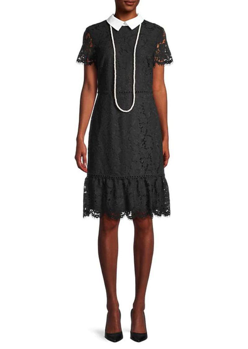 Karl Lagerfeld Lace Short-Sleeve Dress